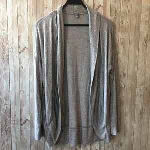 Aerie Grey Long Sleeve Cocoon Sweater